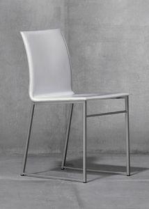 MELISSA A15, Chaise en métal avec le siège en cuir régénéré