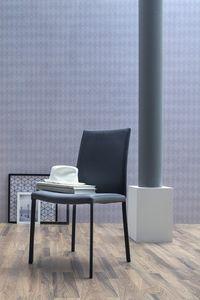 NAVARRA, Chaise rembourrée, disponible en cuir ou en imitation cuir