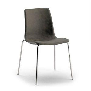 Scacco, Chaise empilable, rembourr�e en �co-cuir