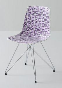 Alhambra TC, Chaise en métal, assise en polymère, pour une utilisation du contrat