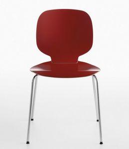 Alis 4L/LS, Chaise empilable en acier et en bois