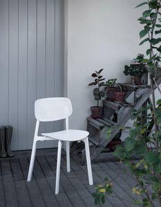 Colander, Chaise empilable en polypropylène et aluminium, pour extérieur