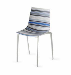 Colorfive TP, Chaise polymère, pieds en métal, différentes finitions