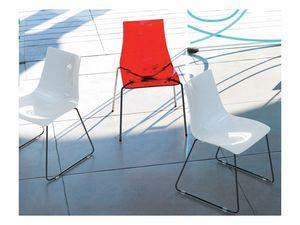 Dea Anti-scratch 2625, Polycarbonate et chaise en métal avec une surface anti-rayures