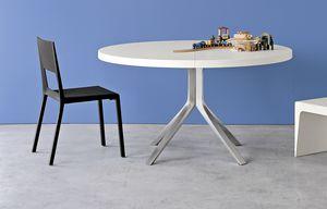 Face, Chaise en aluminium et polyuréthane moulé, facile à nettoyer