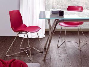 Kaleidos 3, Chaire en métal et de polymère recyclable, pour Office