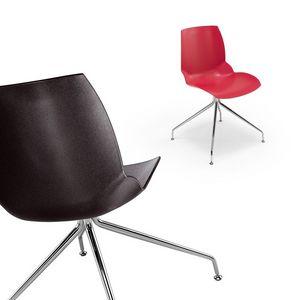 Kaleidos 6, Chaise en acier moderne avec notamment finition du corps