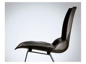 Kaleidos, Chaise avec siège rembourré, recouvert de polymère spécial