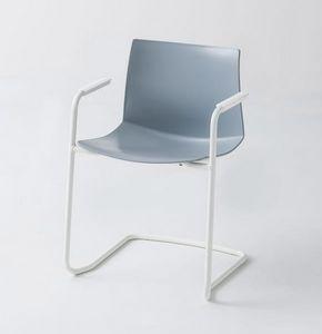 Kanvas 2 CTLS, Chaise chromée avec accoudoirs