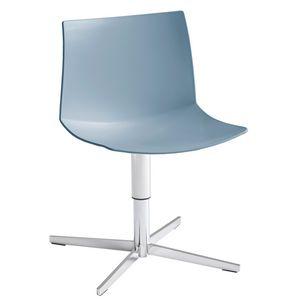Kanvas 2 L, Chaise chromée avec base à 4 pales