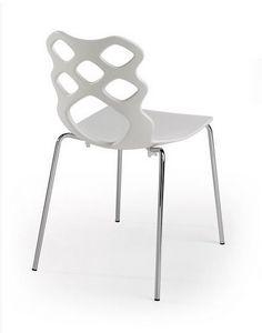 Lace 4G, Chaise avec coque en plastique, design moderne, adapté pour un usage résidentiel et contrat