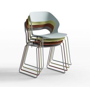 Mixis Air R_SB, Chaise design avec piètement luge