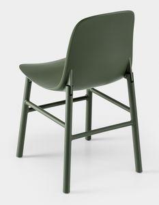 Sharky Alu, Chaise avec pieds en aluminium et coquille en polyuréthane