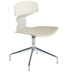 Tolo L, Chaise en métal chromé et technopolymère