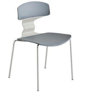Tolo NA, Chaise multicolore en métal chromé