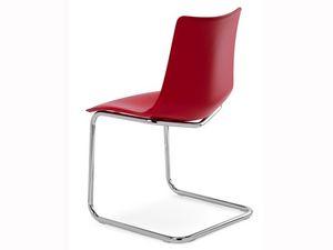 Zebra Pop cantilever, Chaise visiteur avec coque en polycarbonate revêtu