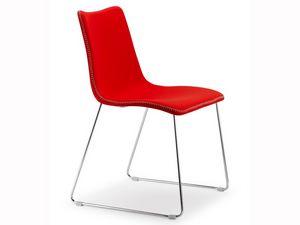 Zebra Pop, Concevoir chaise rembourrée avec luge, revêtements variuos