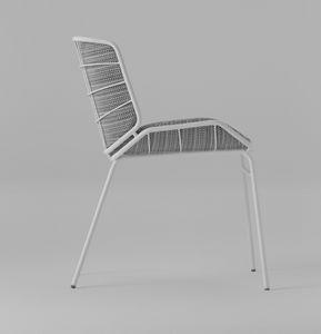 ART. 0082-MET SKIN, Chaise rembourrée, pour intérieur et extérieur