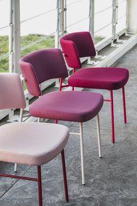 ART. 0161-MET-IM MARLEN, Chaise avec structure en métal, assise rembourrée