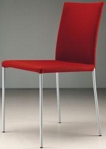 ART. 219 PRISCILLA  , Chaise moderne en métal peint, tissu amovible
