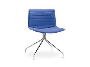 Catifa 53 0209, Chaise design avec base pivotante rembourrée, pour les hôtels