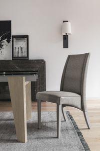 ATENE SE510, Chaise en bois avec dossier haut, recouvert de soft touch