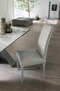 BELLINZONA SE507, Chaise élégante avec un haut dossier