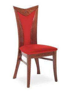Button I, Chaise avec dossier haut recouverte de tissu