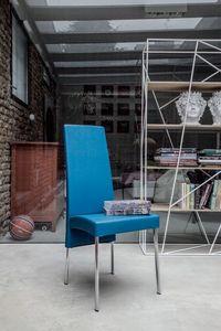 CHARONNE, Chaise de salle à manger moderne avec dossier haut, pour le restaurant