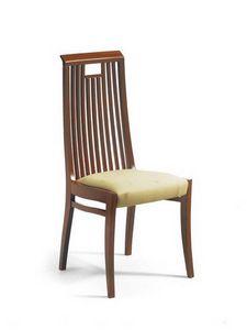 Giada ST, Chaise avec un dossier haut avec des lattes verticales, avec poignée