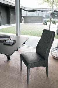 GINEVRA SE515, Chaise vintage en bois, rembourrée avec un toucher doux