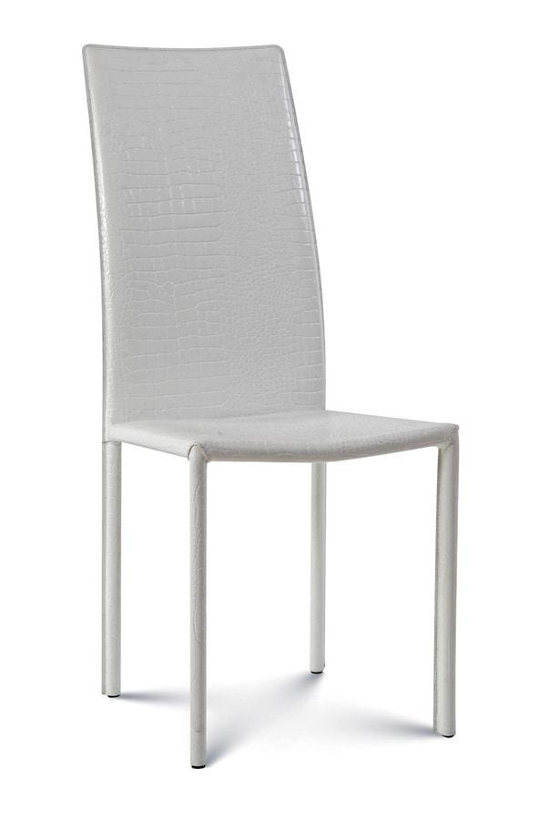 Giada high, Chaise en cuir avec dossier haut