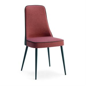 Karina 2, Chaise en bois avec dossier haut rembourré