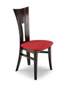 Lia 3, Chaise avec dossier haut et foré verticalement