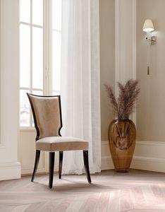 ART. 3438, Chaise de salle à manger élégante en velours