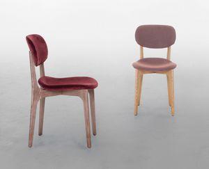 BIKINI WOOD, Chaise en bois rembourrée