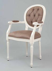 BS100A - Chaise, Chaise médaillon avec dossier