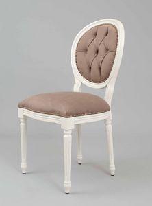 BS100S - Chaise, Chaise médaillon avec dossier