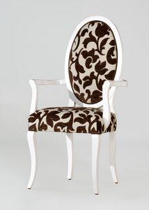 BS213A - Chaise, Chaise médaillon avec dossier