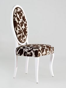 BS213S - Chaise, Chaise médaillon avec dossier