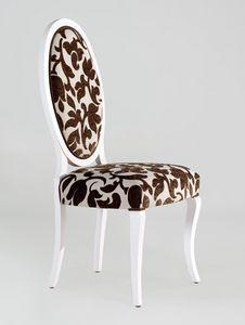 BS213S - Chaise, Chaise m�daillon avec dossier