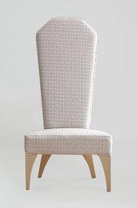 BS375S - Chaise, Chaise impériale rembourrée en tissu