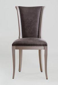 BS376S - Chaise, Chaise rembourrée en éco-cuir