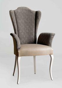 BS420A - Chaise, Chaise avec accoudoirs et dossier haut