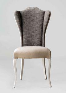 BS420S - Chaise, Chaise rembourrée avec dossier haut