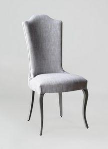 BS428S - Chaise, Chaise rembourrée avec dossier haut