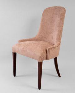BS430S - Chaise, Chaise rembourrée avec dossier haut