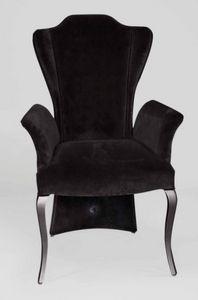 BS431A - Chaise, Chaise velours avec dossier haut