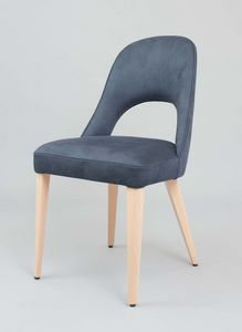 BS439S - Fauteuil, Chaise rembourrée revêtue en éco-cuir