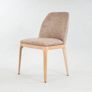 BS462S - Chaise, Chaise en bois au design contemporain